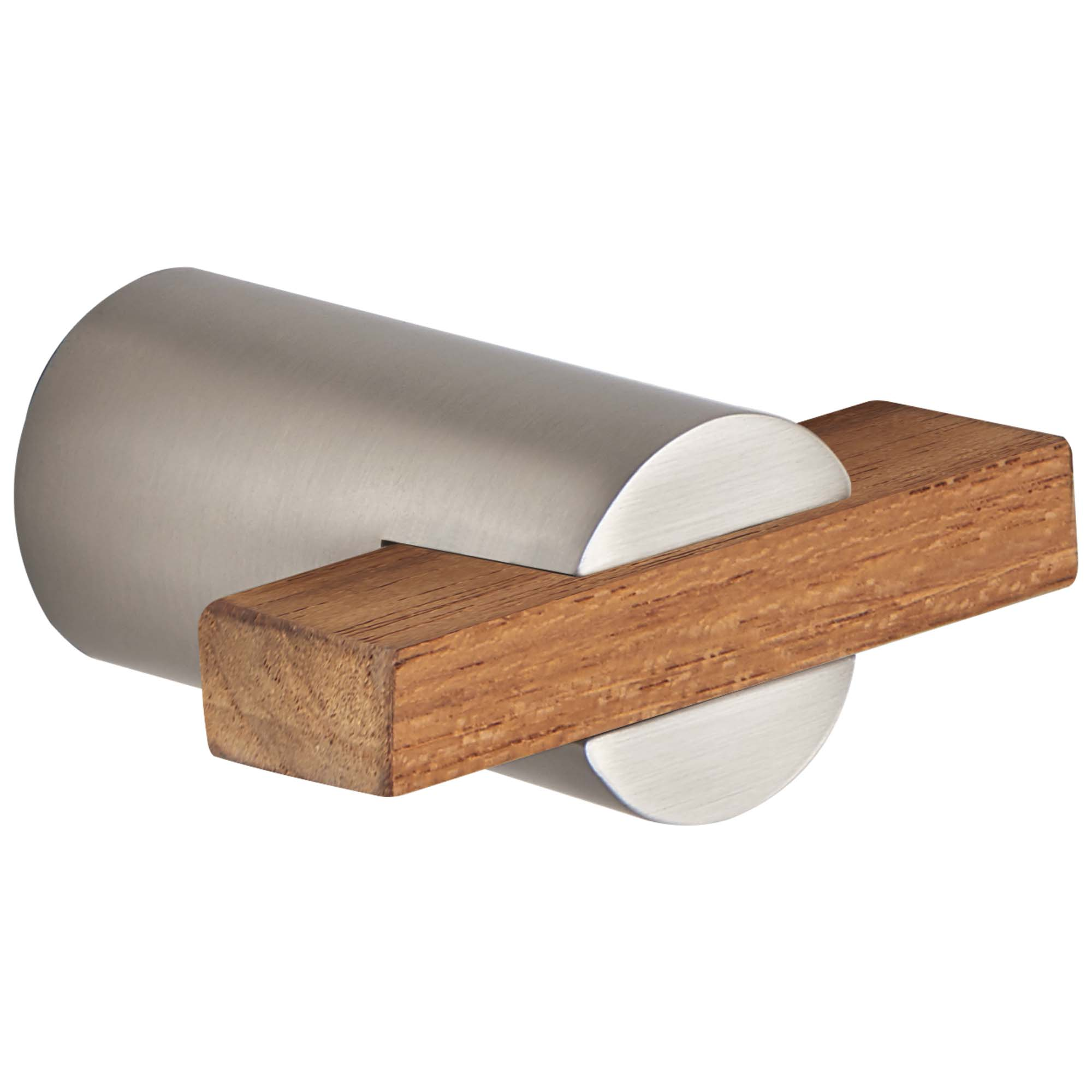 Brizo 699135-NKTK Litze Drawer Pull - Luxe Nickel/Teak Wood