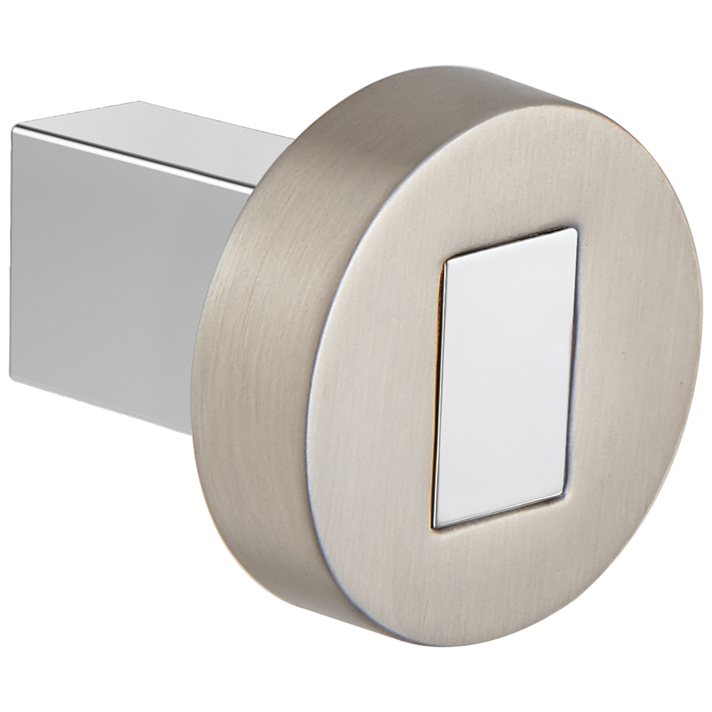 Brizo 699235-NKPC Litze Drawer Knob - Luxe Nickel/Polished Chrome