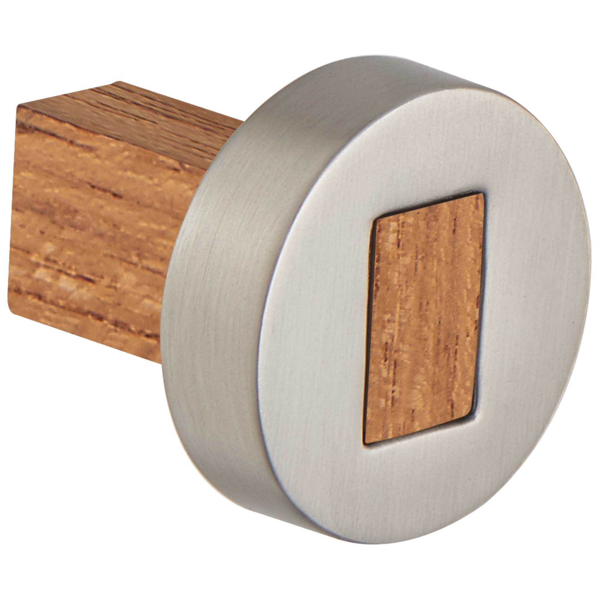 Brizo 699235-NKTK Litze Drawer Knob - Luxe Nickel/Teak Wood