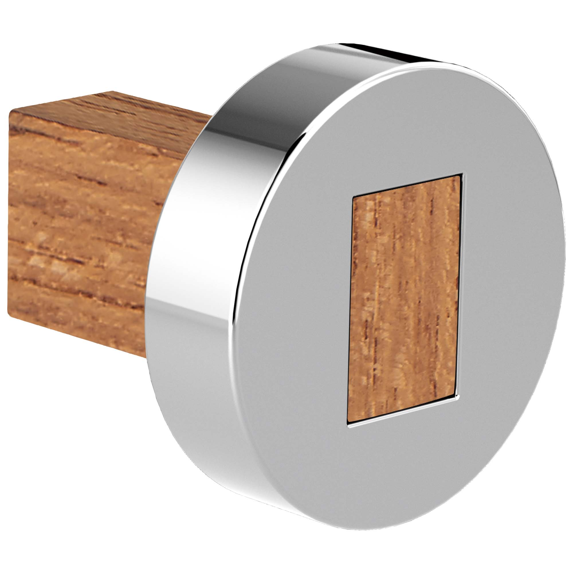 Brizo 699235-PCTK Litze Drawer Knob - Polished Chrome/Teak Wood
