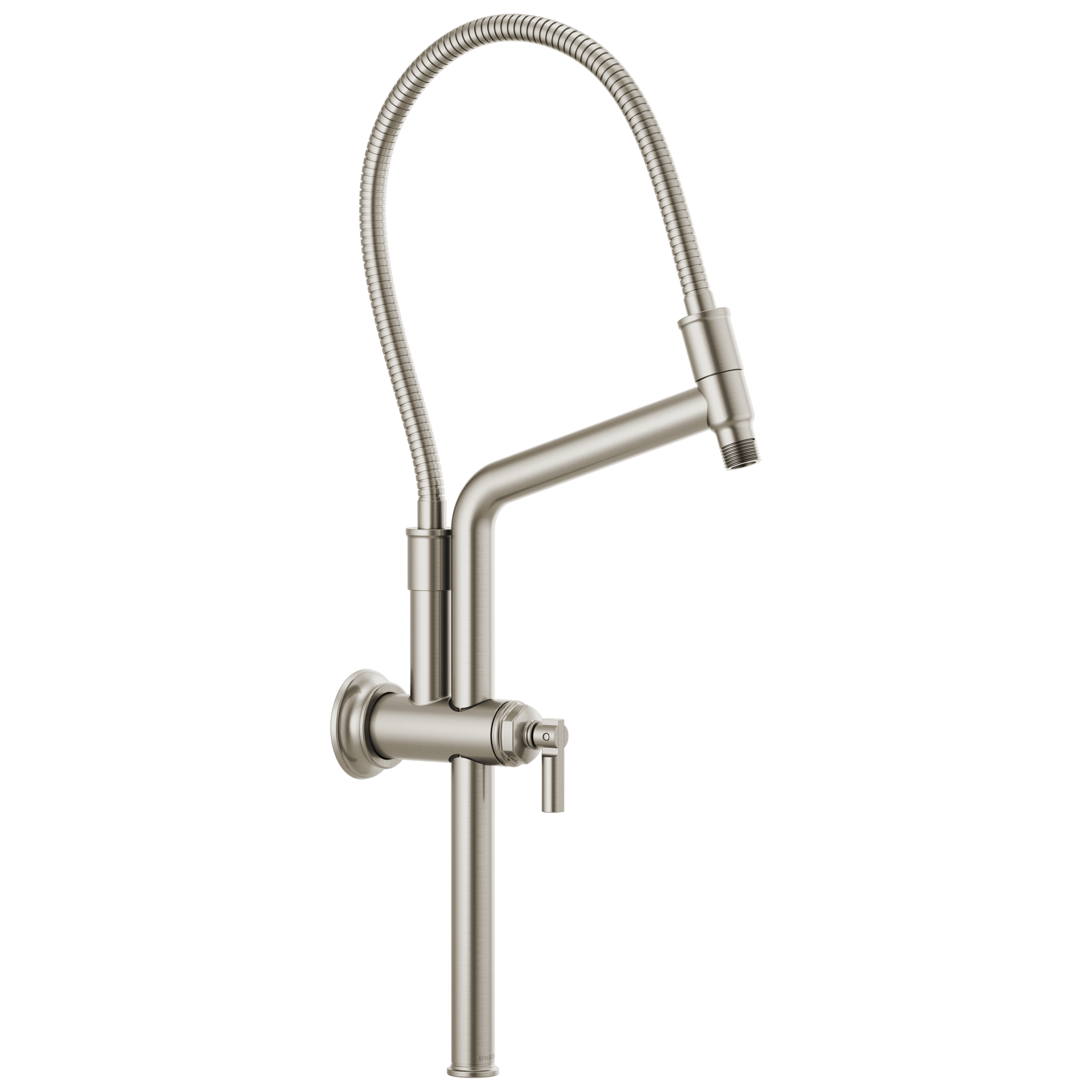 "Brizo 81376-NK Brizo Invari: 10 7/16"" Slide Bar Shower Arm And Flange - Luxe Nickel"