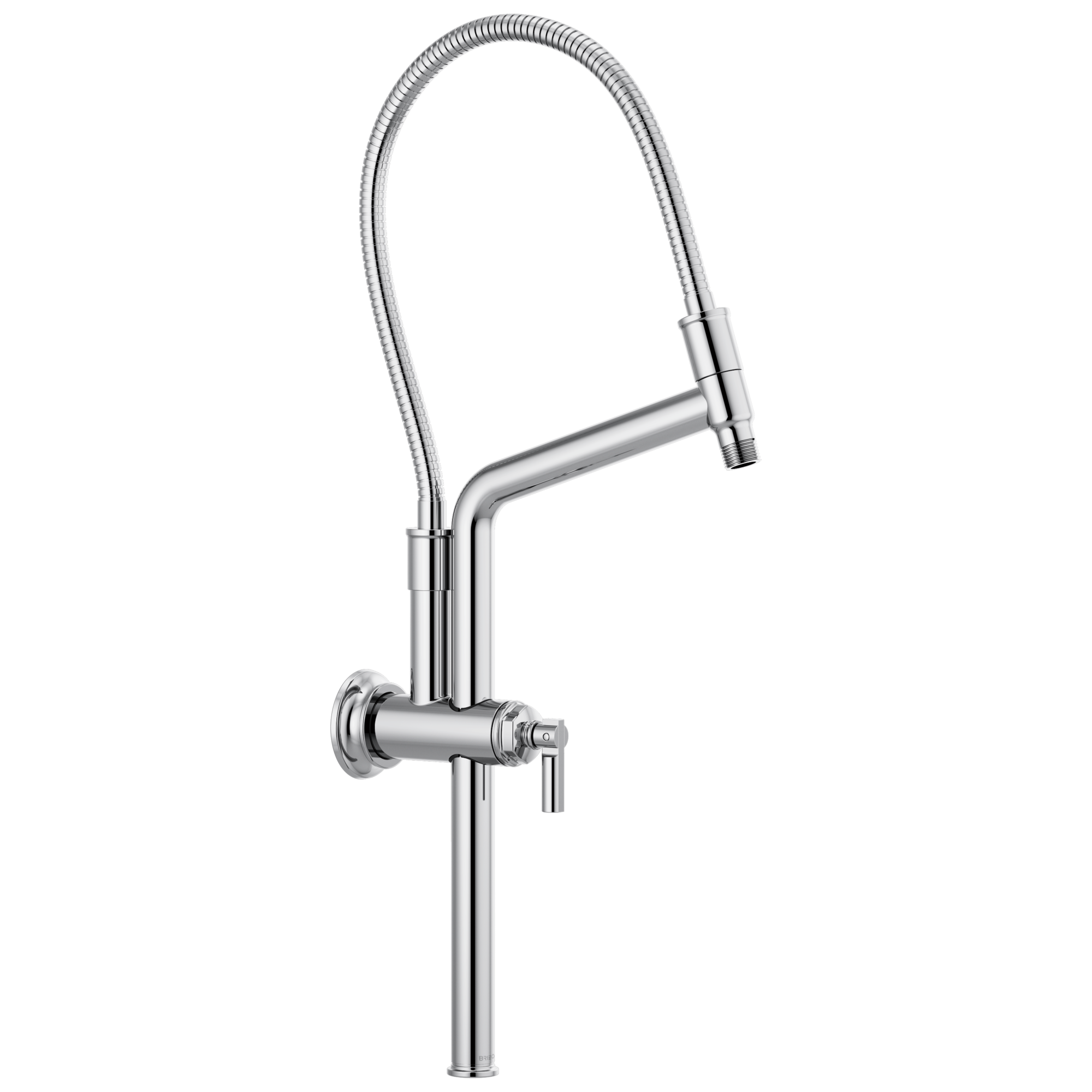 "Brizo 81376-PC Brizo Invari: 10 7/16"" Slide Bar Shower Arm And Flange - Chrome"