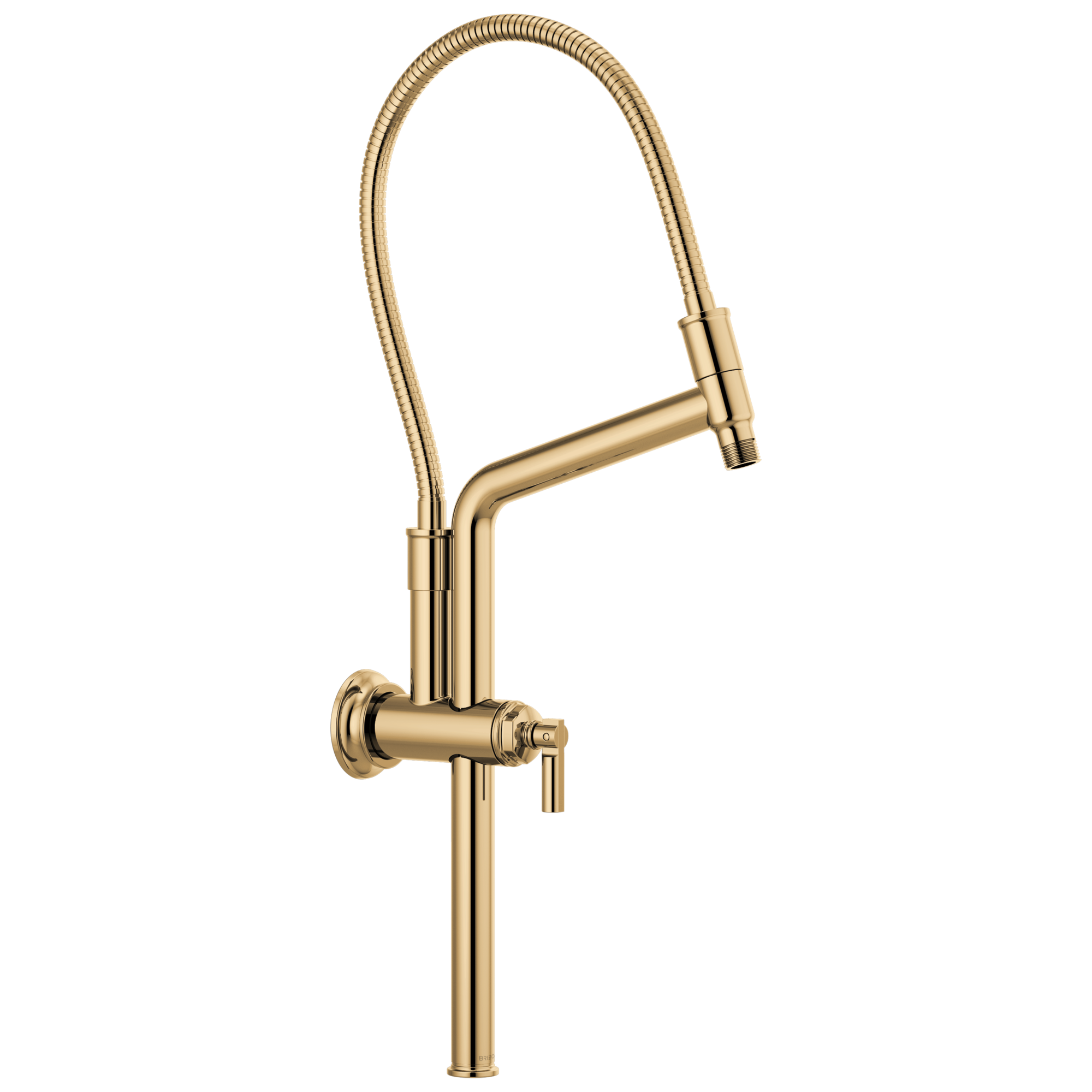 "Brizo 81376-PG Brizo Invari: 10 7/16"" Slide Bar Shower Arm And Flange - Polished Gold"