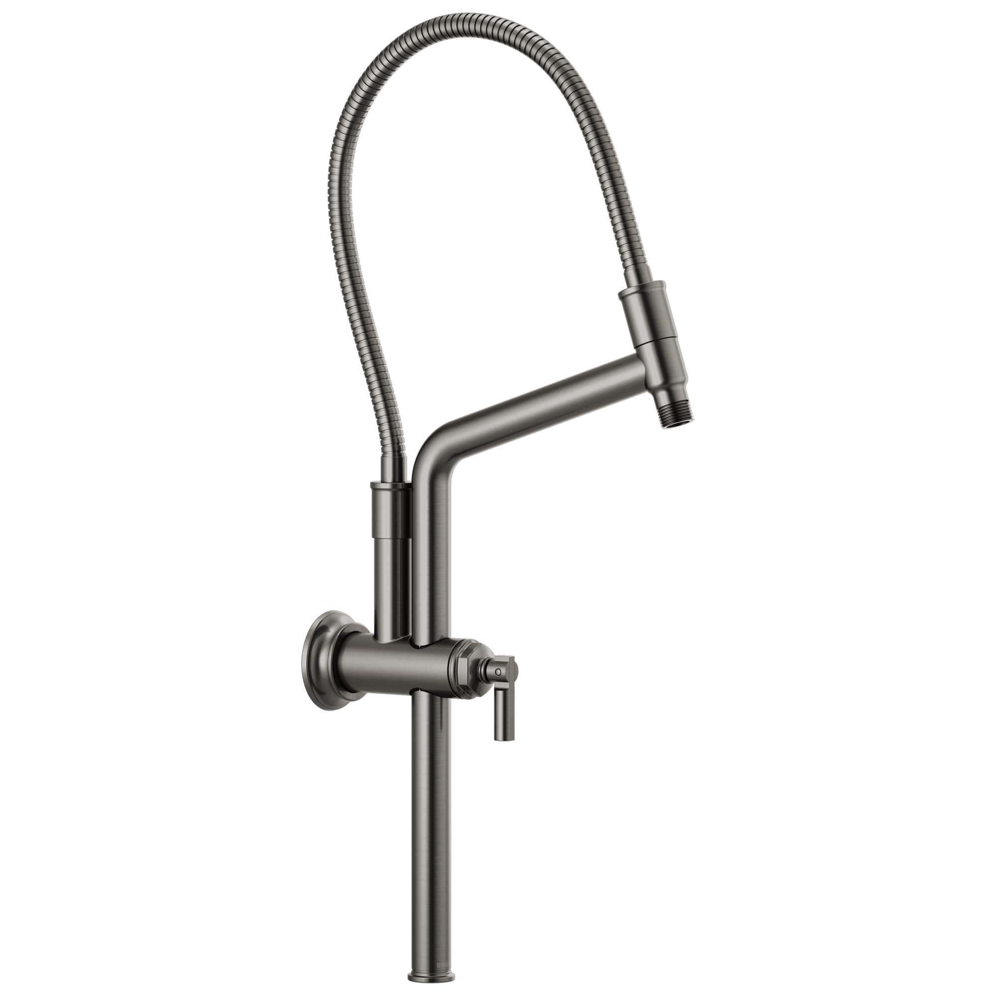 "Brizo 81376-SL Brizo Invari: 10 7/16"" Slide Bar Shower Arm And Flange - Luxe Steel"