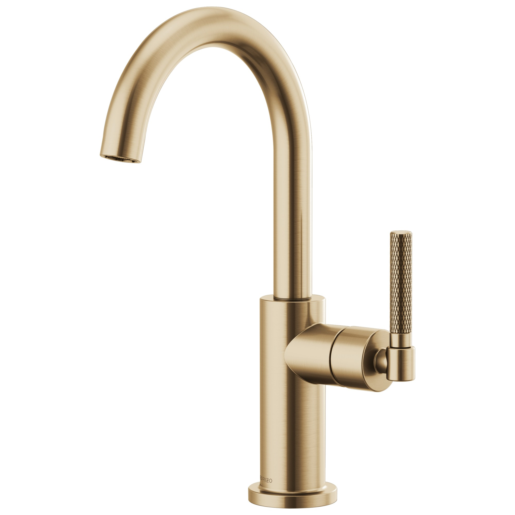 Brizo 61043LF-GL Litze Bar Faucet with Arc Spout and Knurled Handle - Luxe Gold