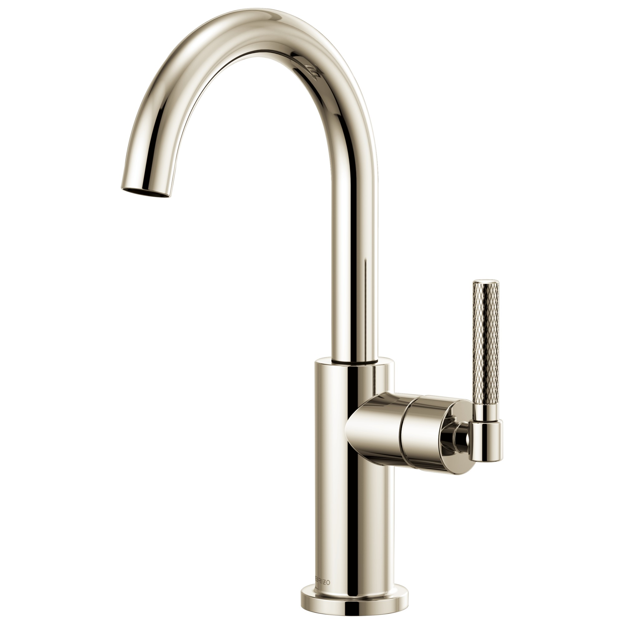 Brizo 61043LF-PN Litze Bar Faucet with Arc Spout and Knurled Handle - Polished Nickel