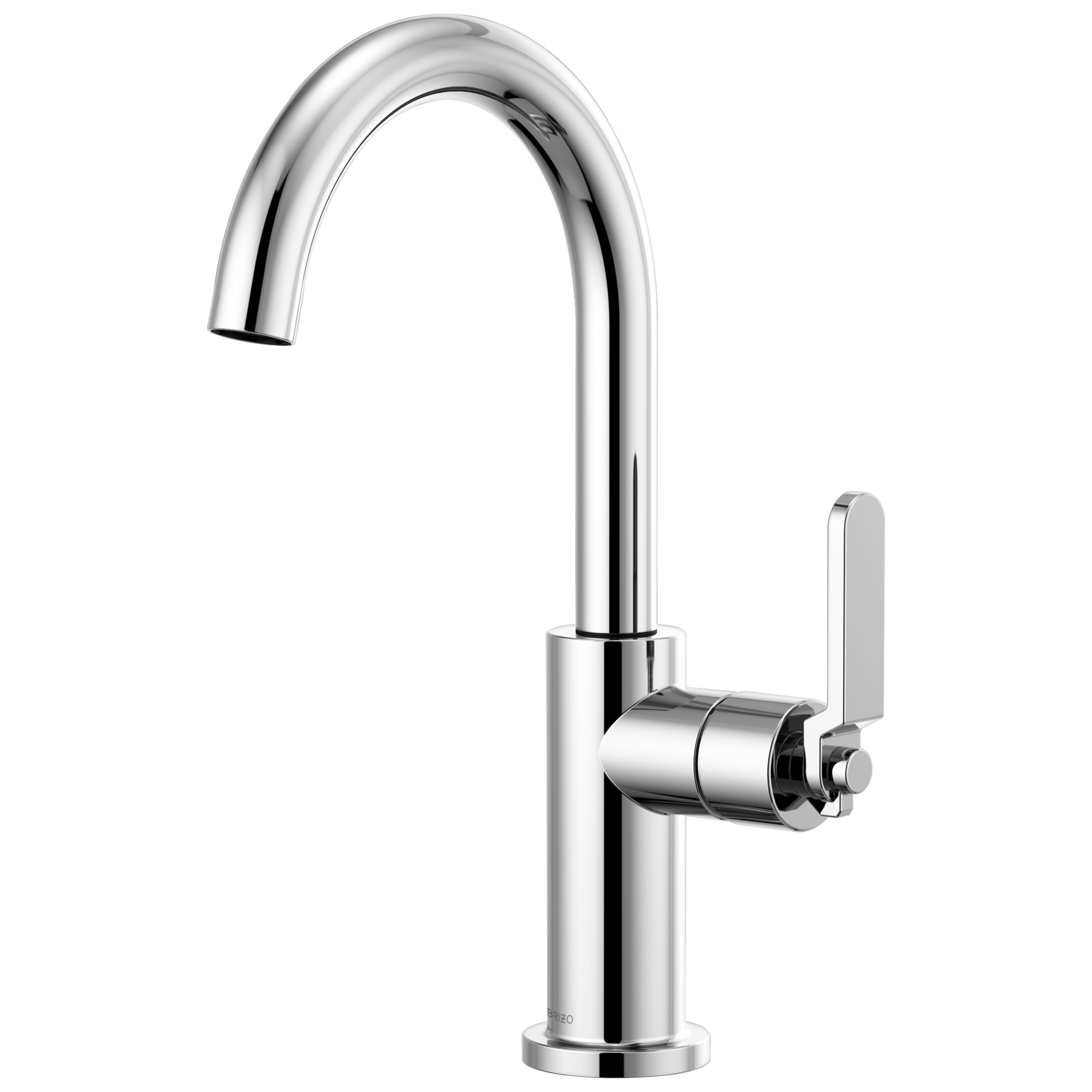 Brizo 61044LF-PC Litze Bar Faucet with Arc Spout and Industrial Handle - Chrome