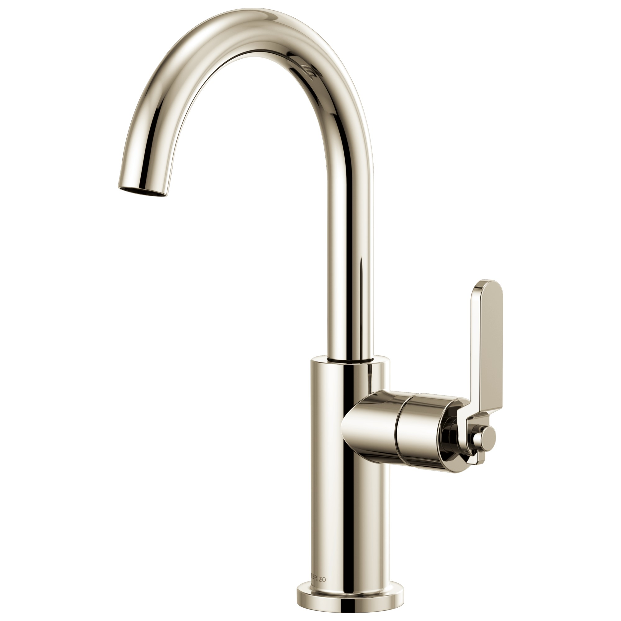 Brizo 61044LF-PN Litze Bar Faucet with Arc Spout and Industrial Handle - Polished Nickel