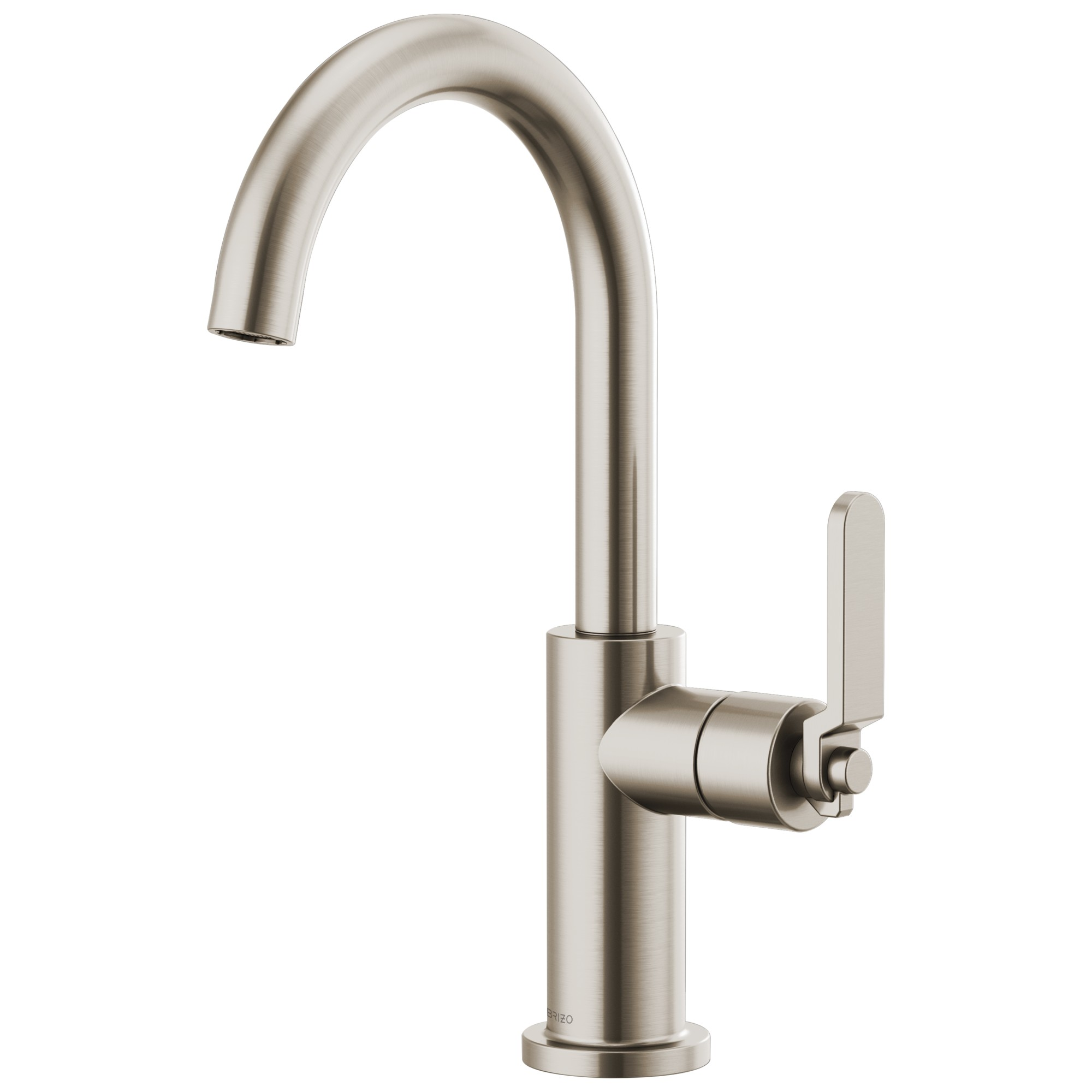 Brizo 61044LF-SS Litze Bar Faucet with Arc Spout and Industrial Handle - Stainless