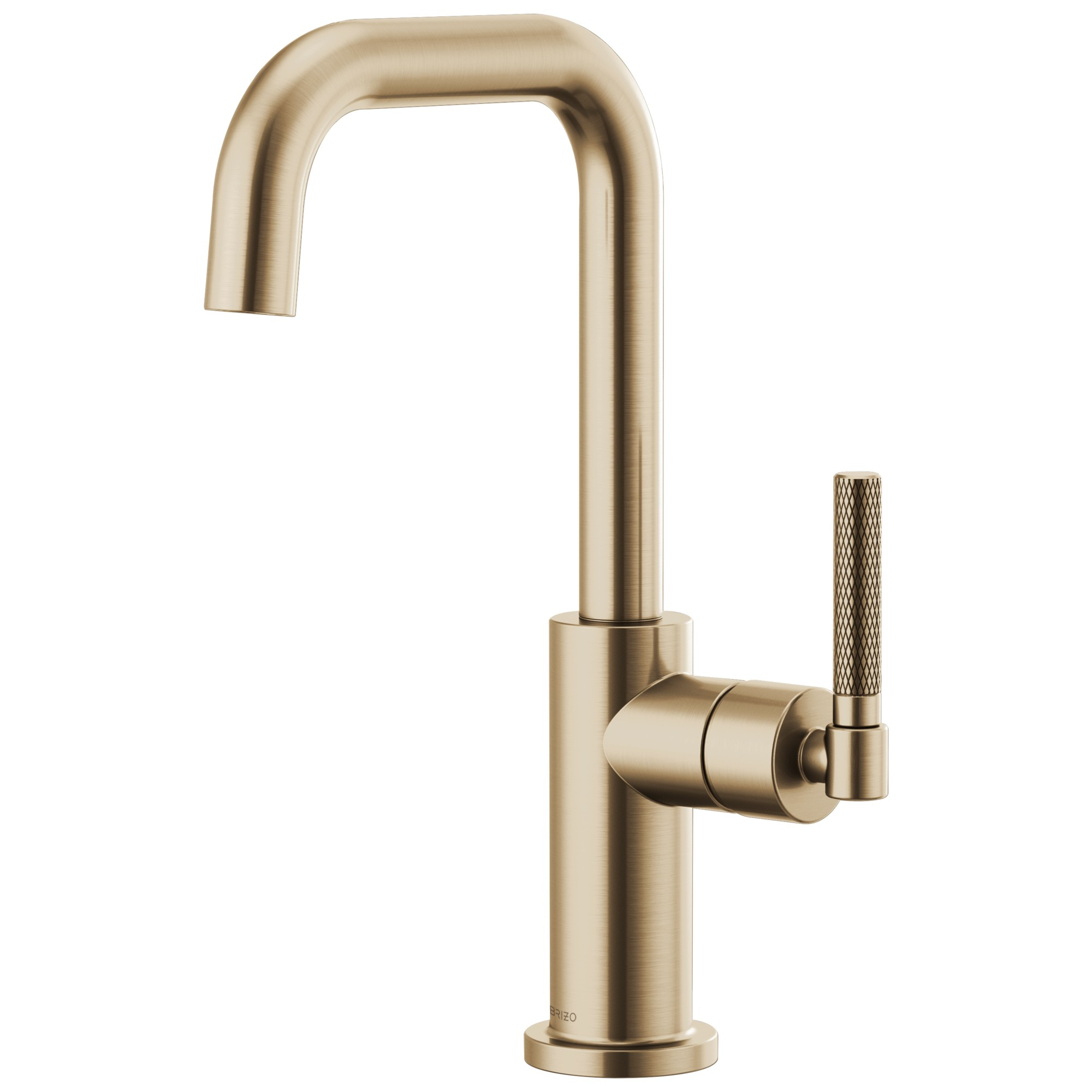 Brizo 61053LF-GL Litze Bar Faucet with Square Spout and Knurled Handle - Luxe Gold