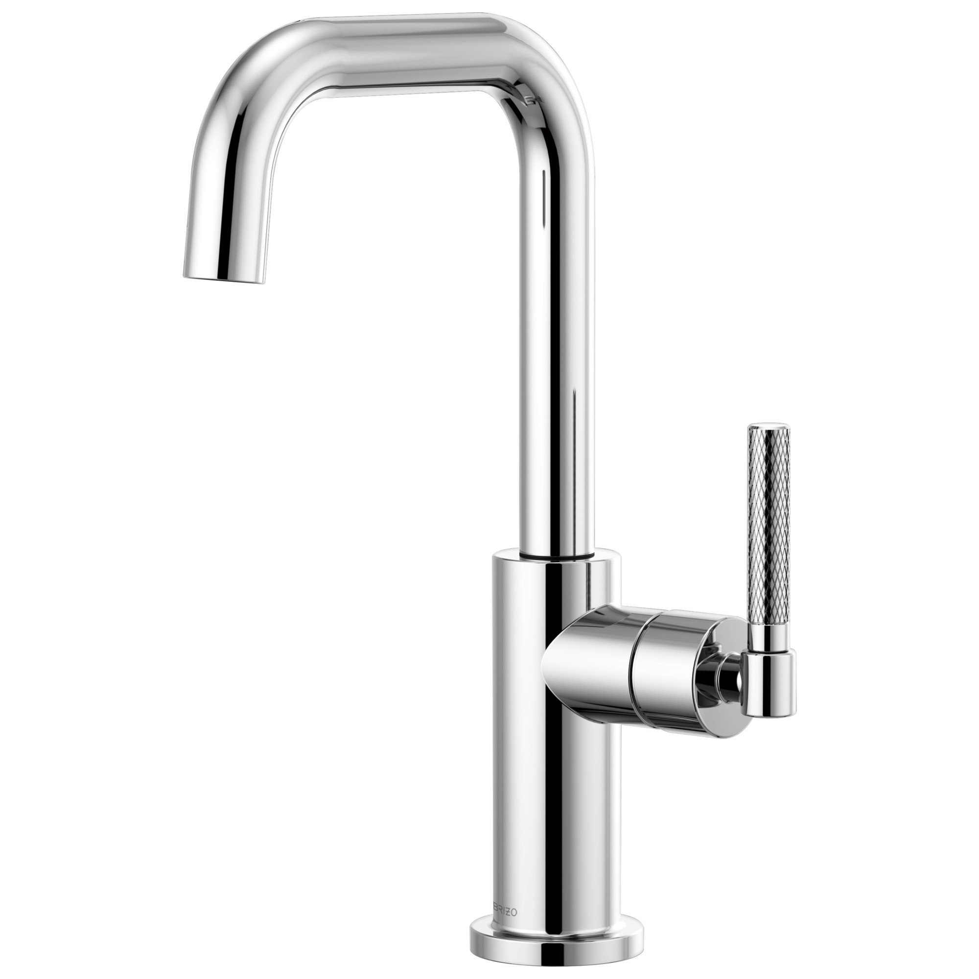 Brizo 61053LF-PC Litze Bar Faucet with Square Spout and Knurled Handle - Chrome