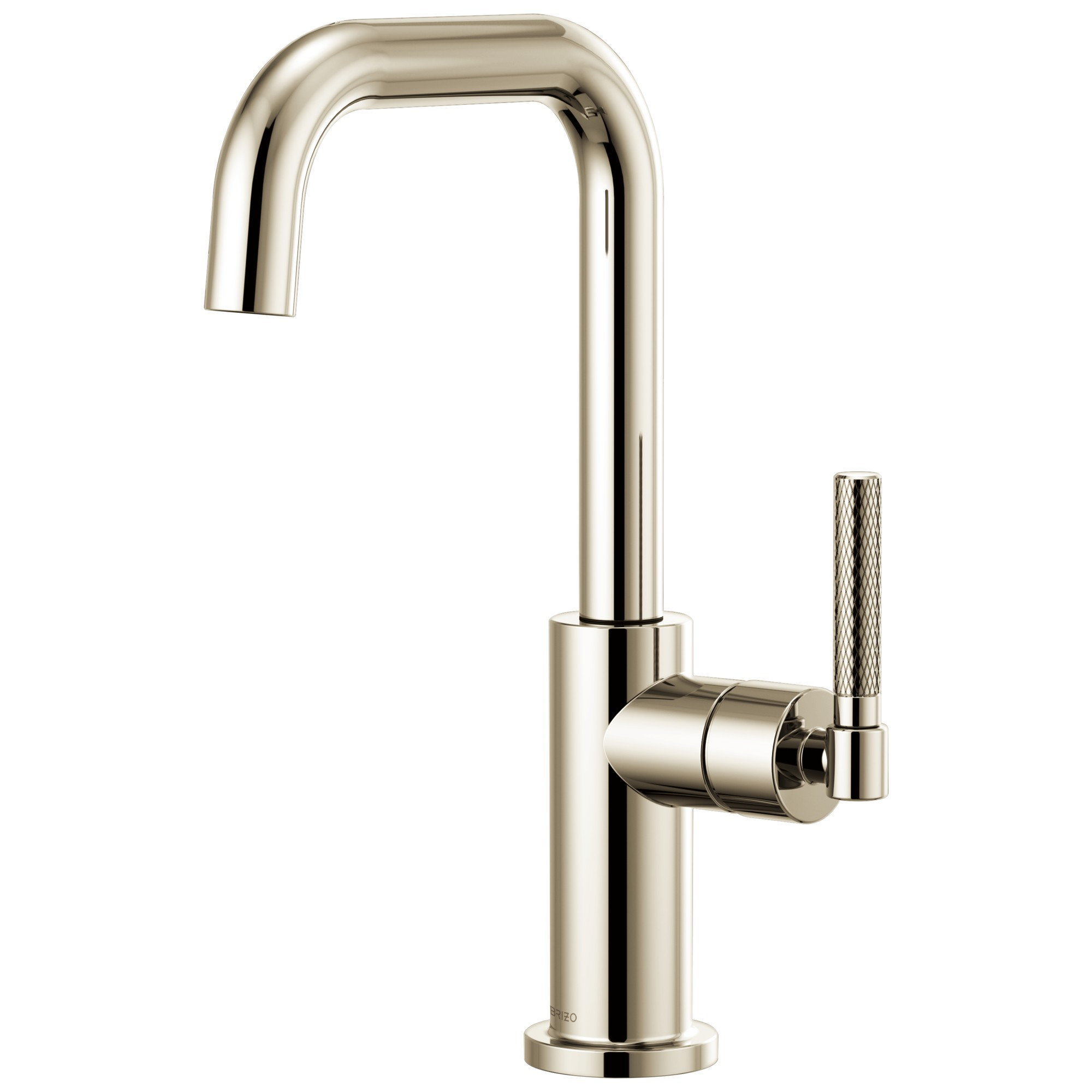 Brizo 61053LF-PN Litze Bar Faucet with Square Spout and Knurled Handle - Polished Nickel