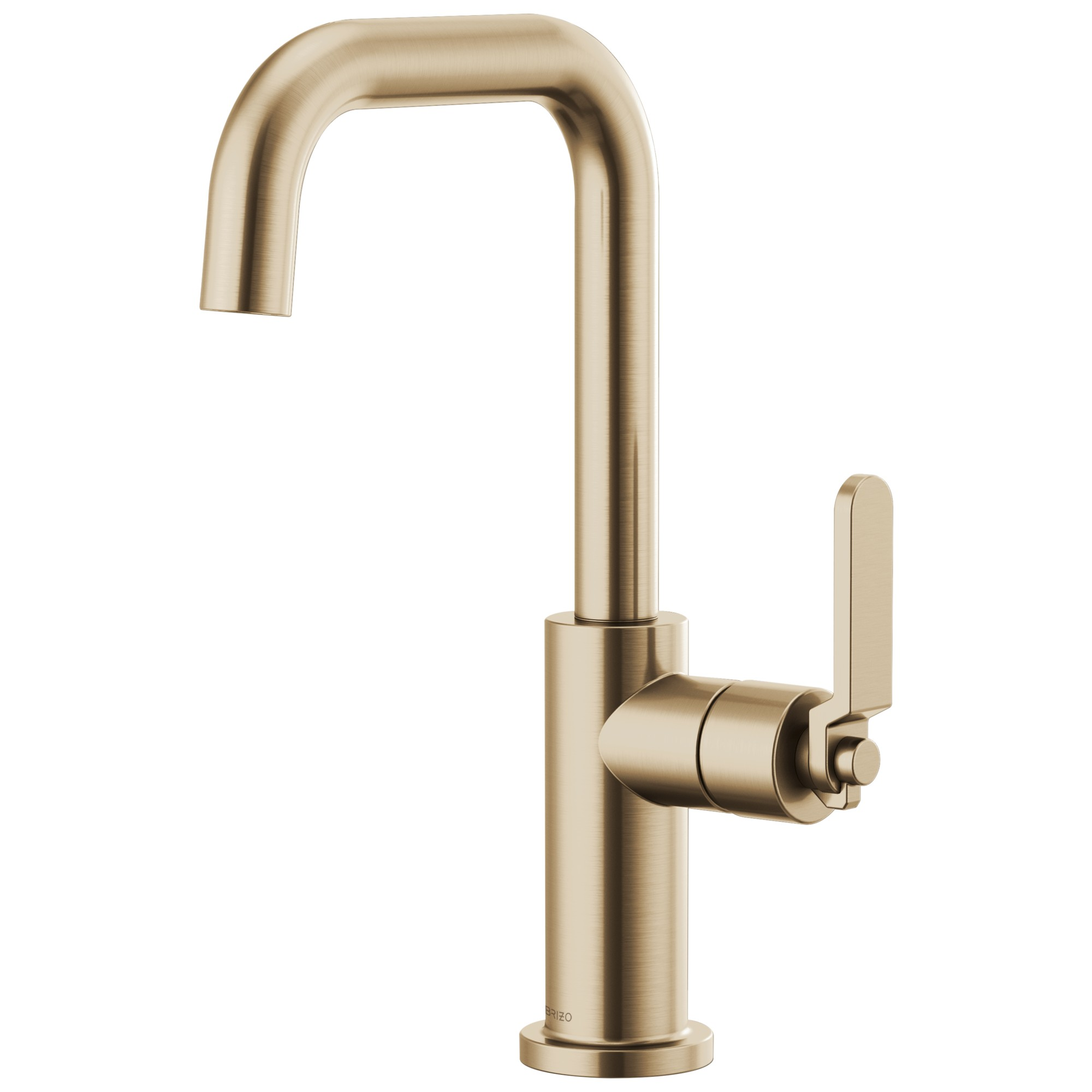 Brizo 61054LF-GL Litze Bar Faucet with Square Spout and Industrial Handle - Luxe Gold