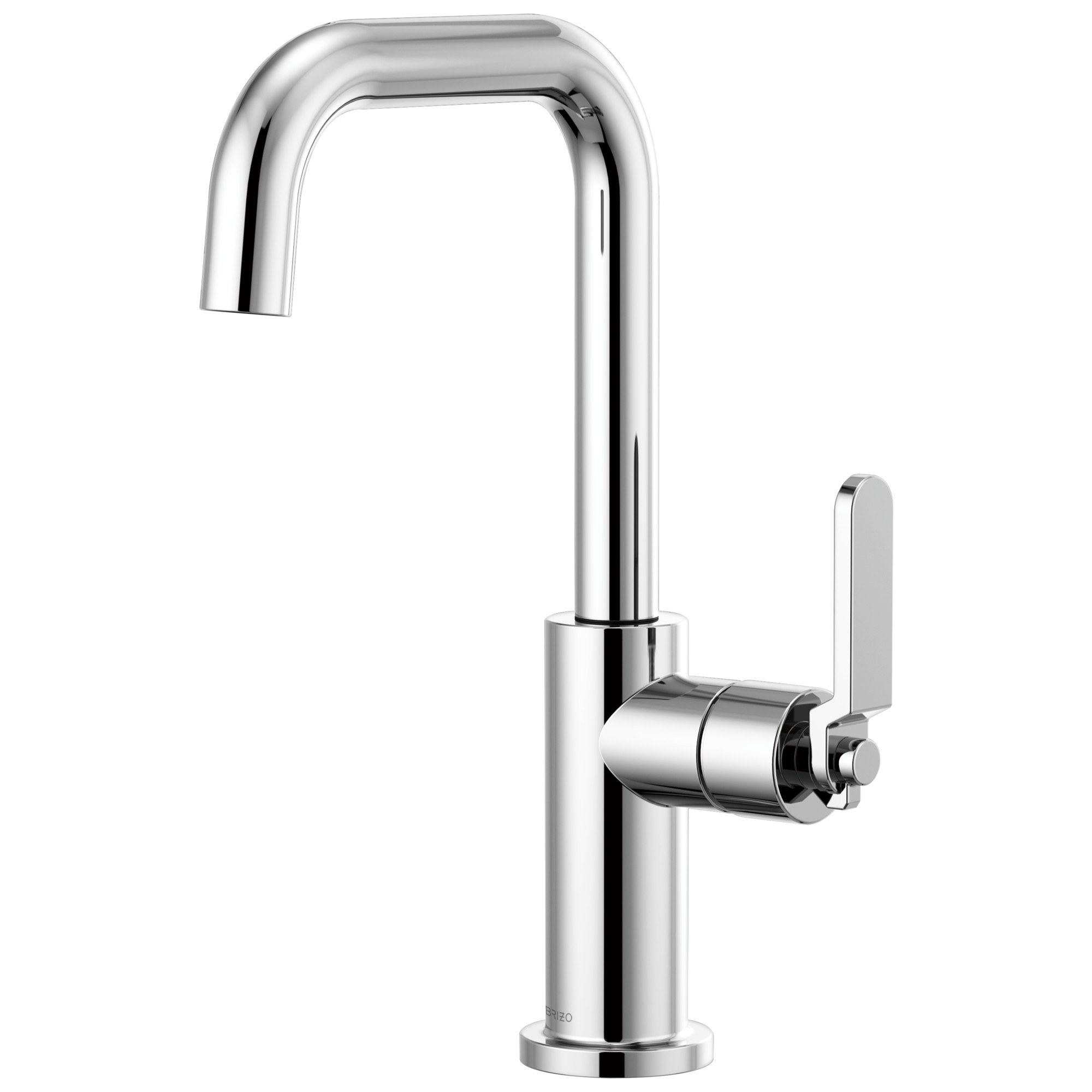 Brizo 61054LF-PC Litze Bar Faucet with Square Spout and Industrial Handle - Chrome