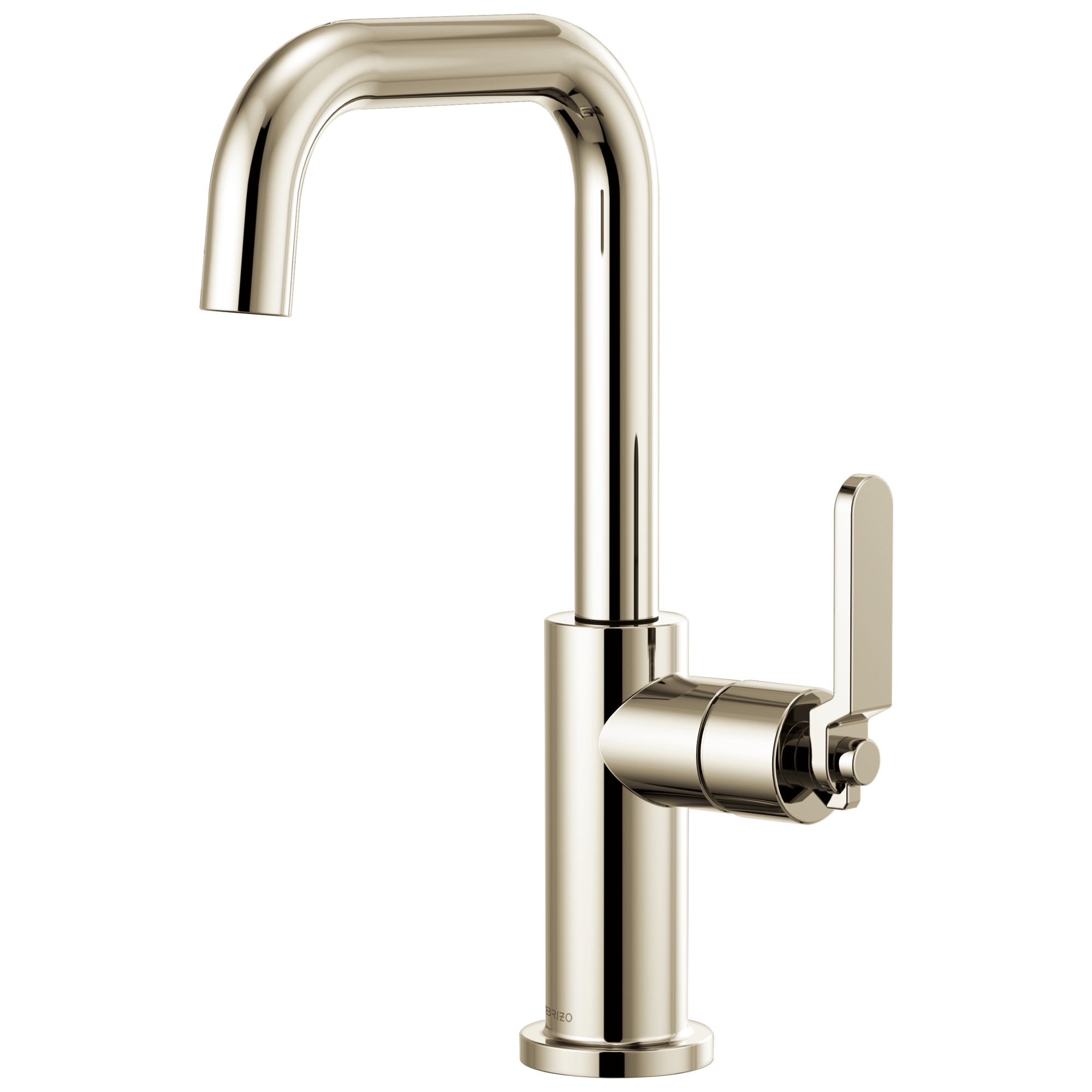 Brizo 61054LF-PN Litze Bar Faucet with Square Spout and Industrial Handle - Polished Nickel