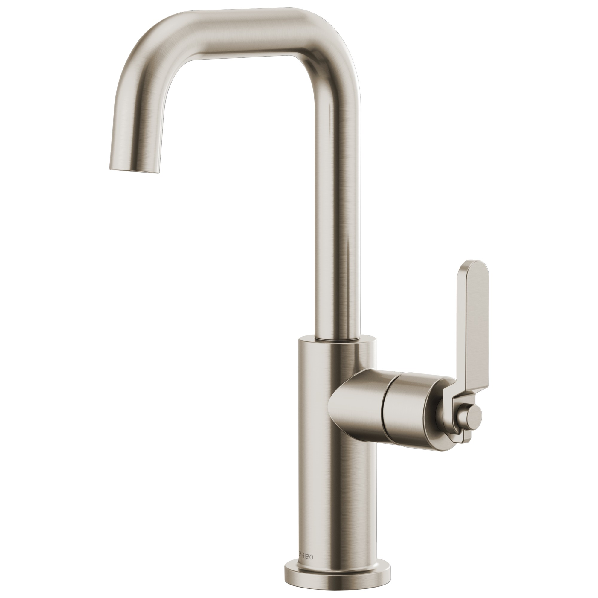 Brizo 61054LF-SS Litze Bar Faucet with Square Spout and Industrial Handle - Stainless