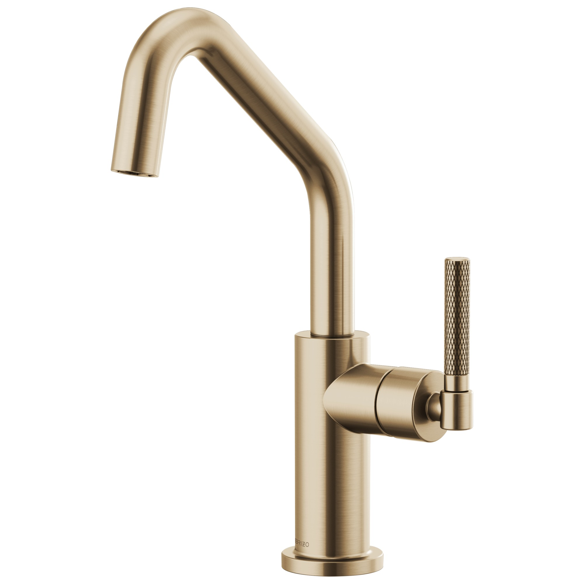 Brizo 61063LF-GL Litze Bar Faucet with Angled Spout and Knurled Handle - Luxe Gold