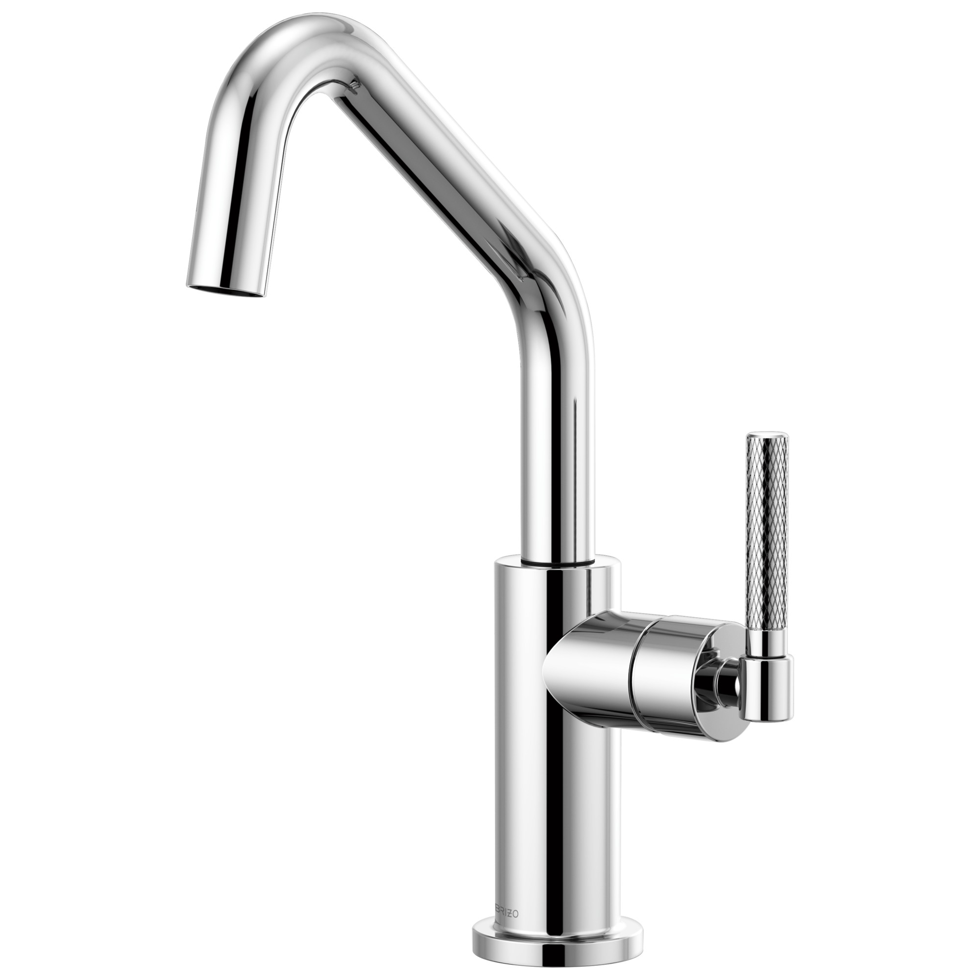 Brizo 61063LF-PC Litze Bar Faucet with Angled Spout and Knurled Handle - Chrome