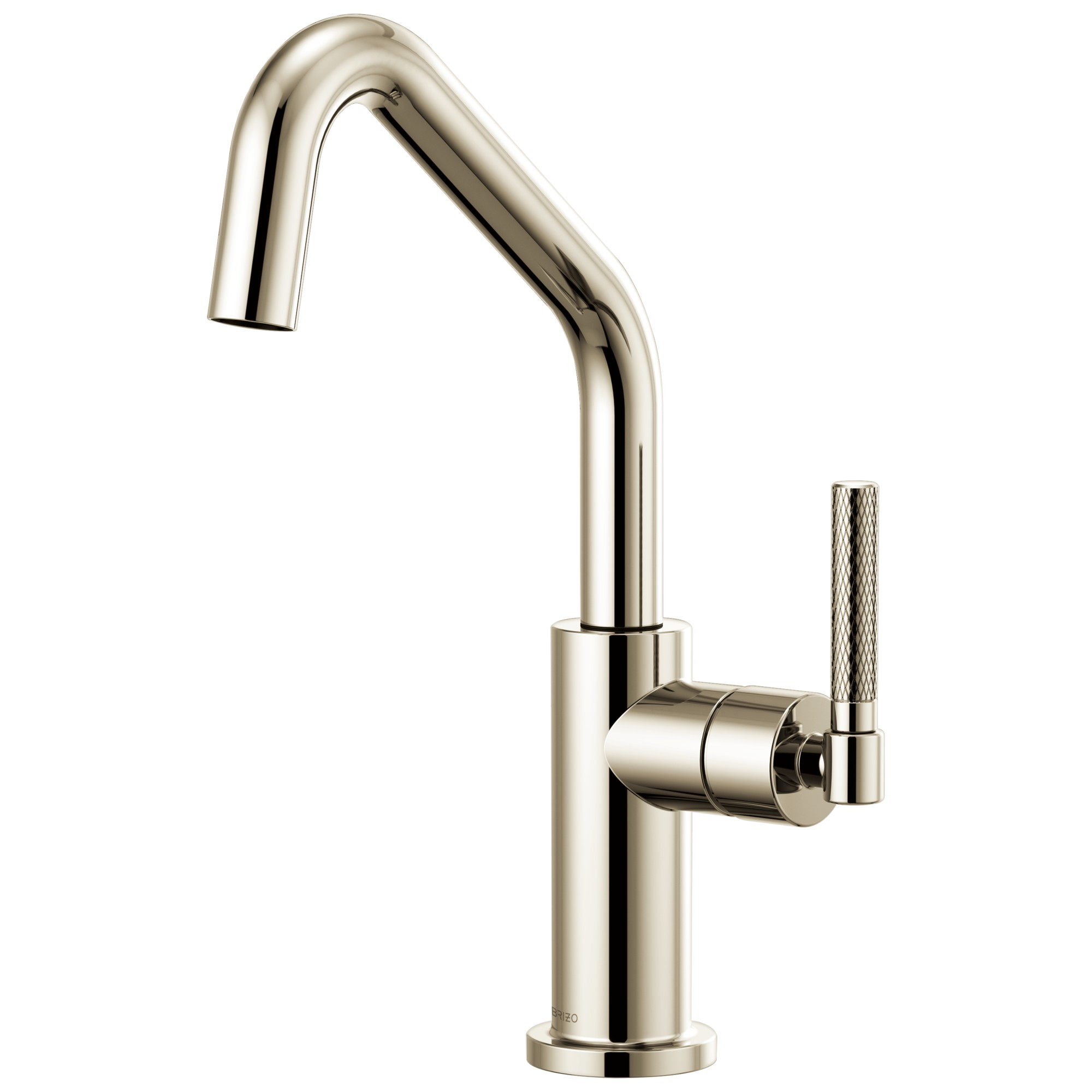 Brizo 61063LF-PN Litze Bar Faucet with Angled Spout and Knurled Handle - Polished Nickel