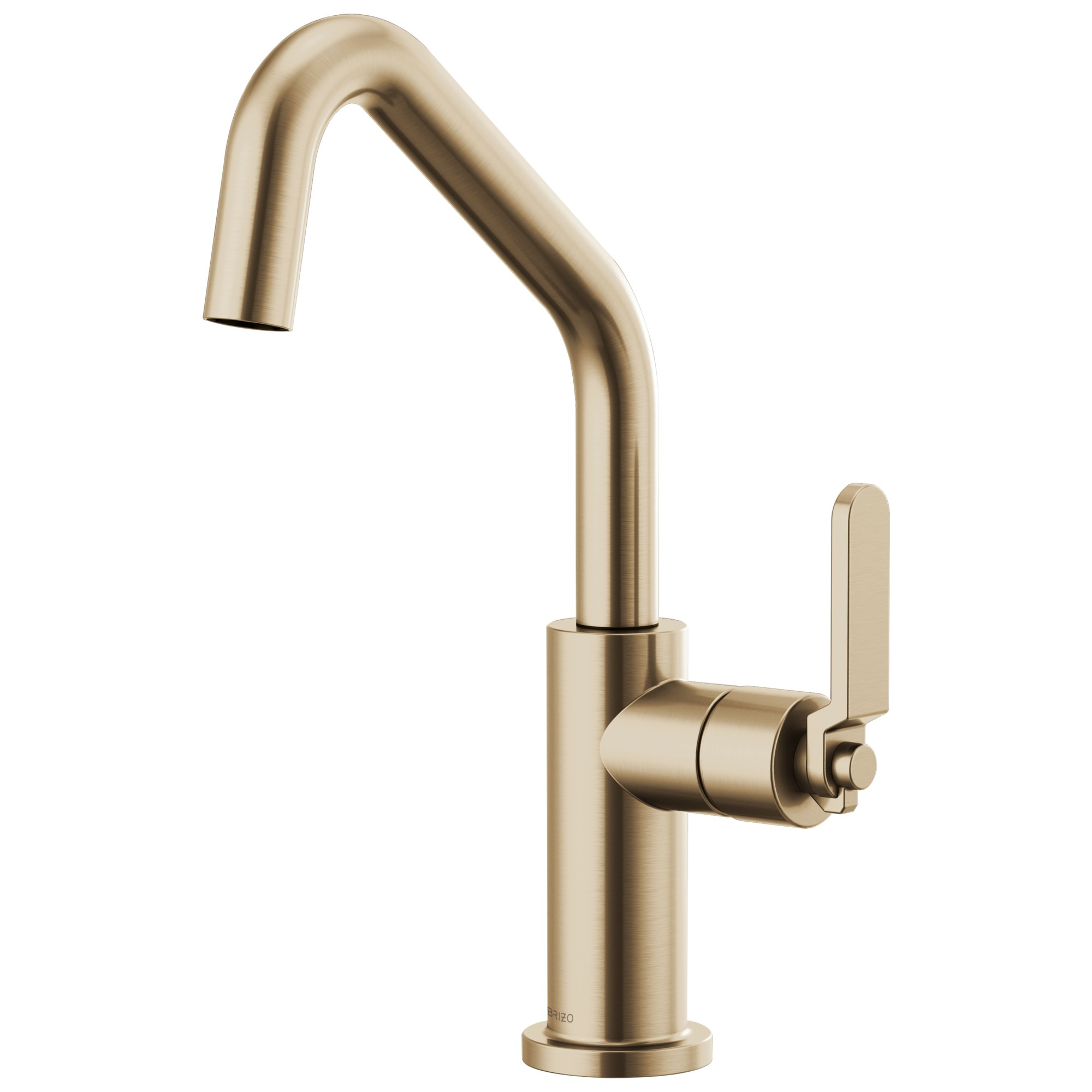 Brizo 61064LF-GL Litze Bar Faucet with Angled Spout and Industrial Handle - Luxe Gold
