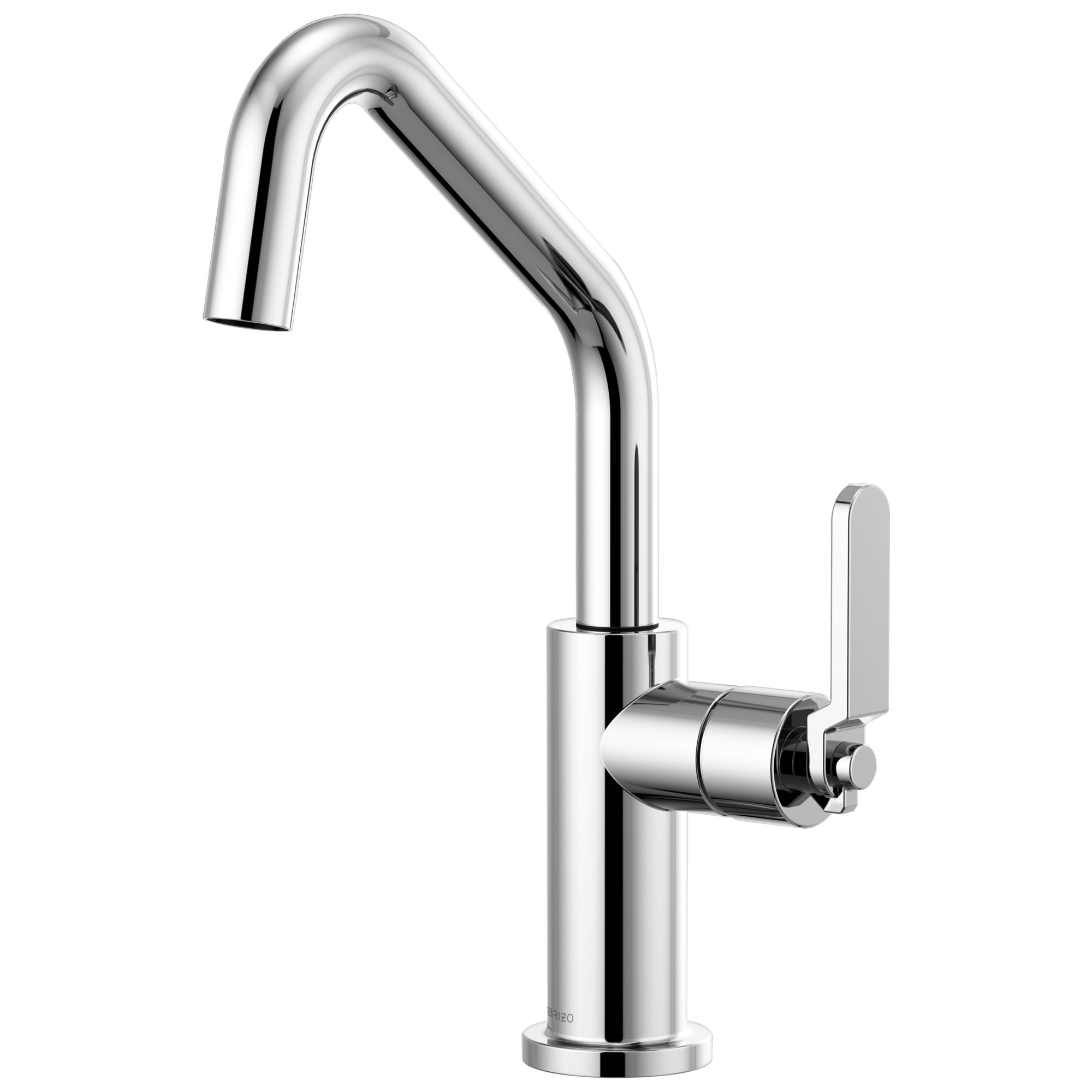 Brizo 61064LF-PC Litze Bar Faucet with Angled Spout and Industrial Handle - Chrome