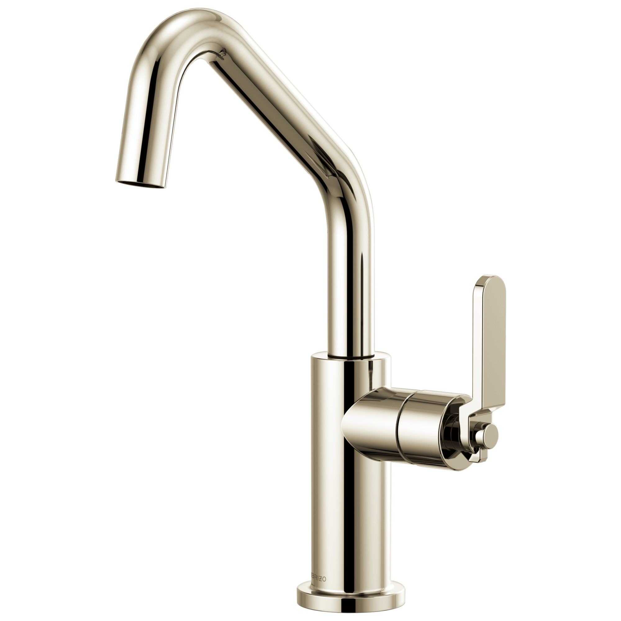 Brizo 61064LF-PN Litze Bar Faucet with Angled Spout and Industrial Handle - Polished Nickel