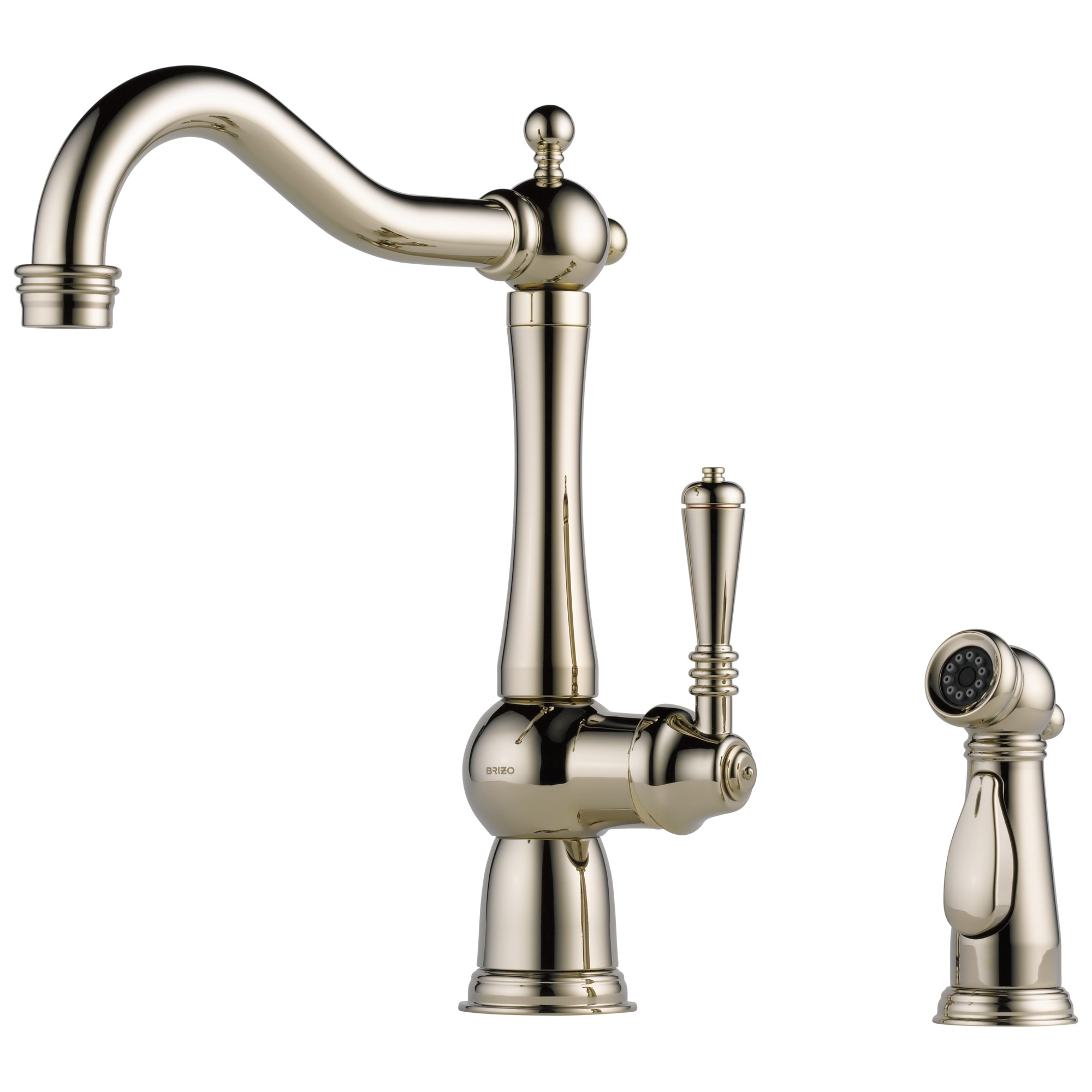 Brizo 61136LF-PN Tresa Single Handle Kitchen Faucet with Spray - Polished Nickel