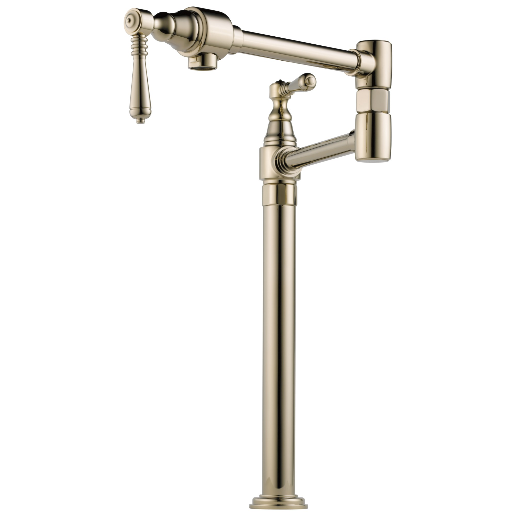 Brizo 62710LF-PN Traditional Deck Mount Pot Filler Faucet - Polished Nickel