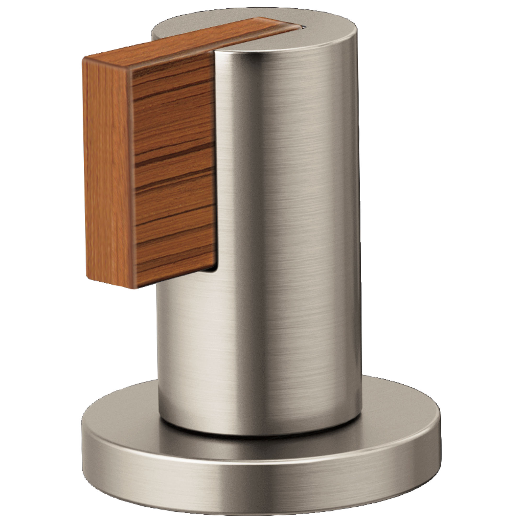 Brizo HL5332-NKTK Litze Widespread Handle Kit with Lever - Luxe Nickel/Teak Wood
