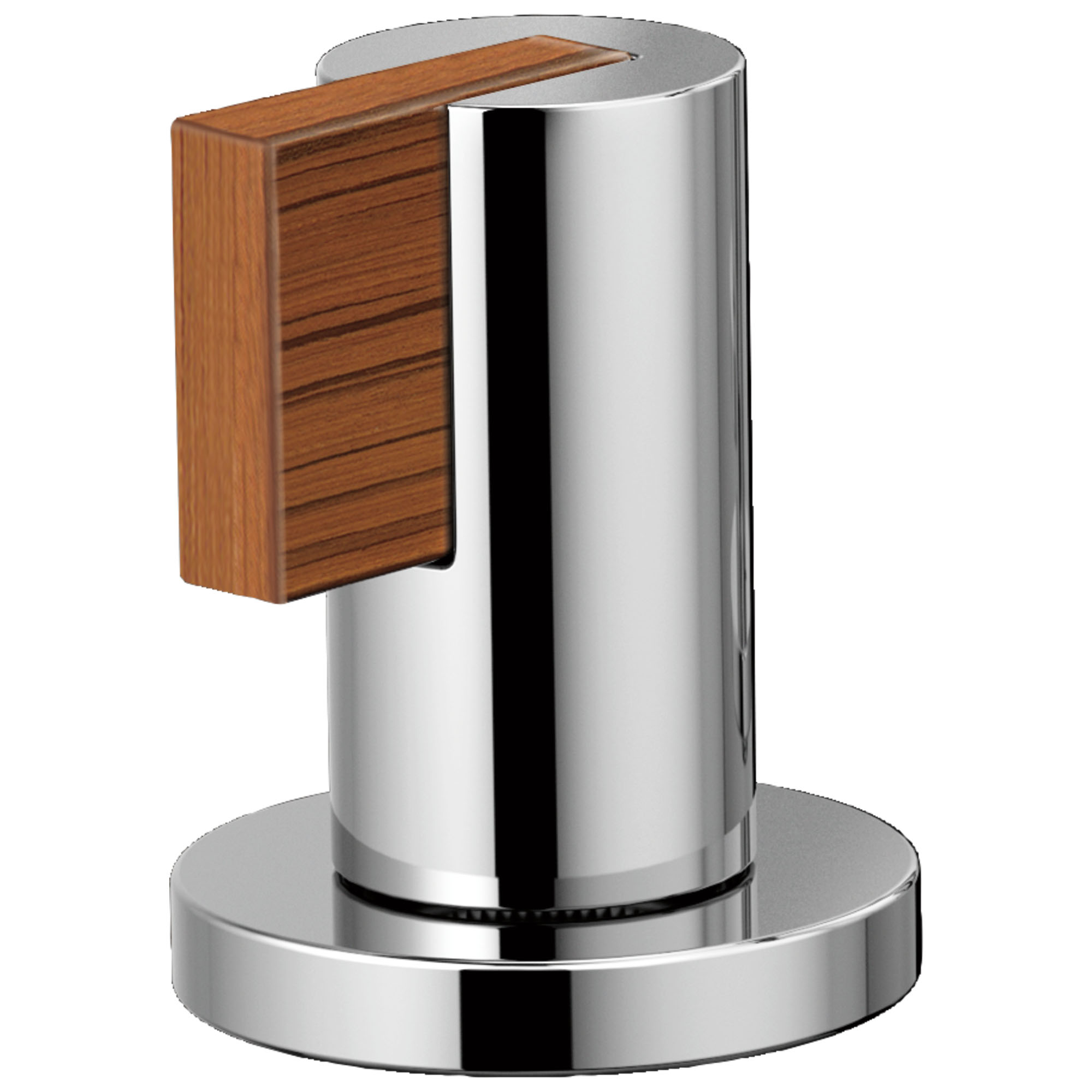 Brizo HL5332-PCTK Litze Widespread Handle Kit with Lever - Polished Chrome/Teak Wood
