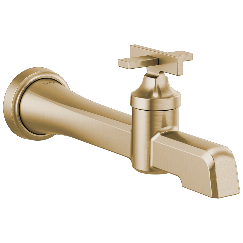 Brizo T65798LF-GL Levoir Single-Handle Wall Mount Lavatory Faucet - Luxe Gold