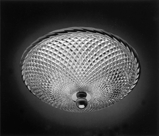 Cristal et Bronze 34152 Rope Brass Ceiling Light Lead Crystal D Bowl