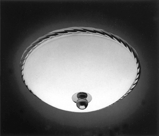 Cristal et Bronze 34153 Rope Brass Ceiling Light Mat Opal Bowl