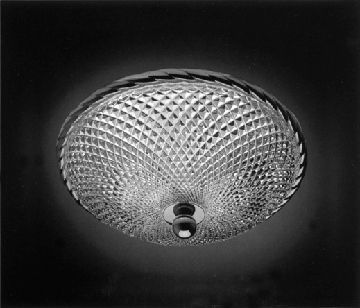 Cristal et Bronze 34154 Rope Brass Ceiling Light Lead Crystal D Bowl