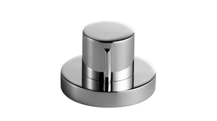 Dornbracht 10710970-00 Round Universal Strainer Remote Control with Turning Knob - Polished Chrome