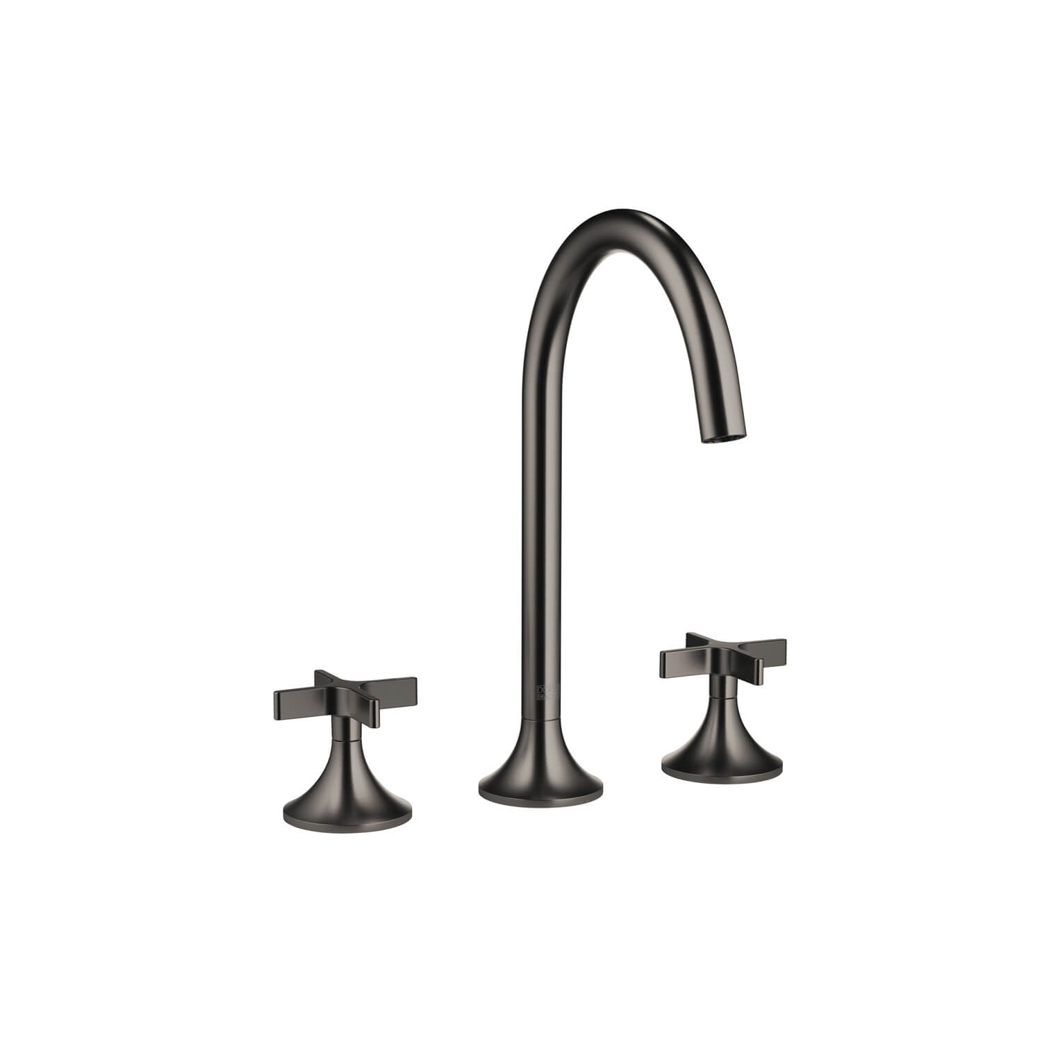 Dornbracht 20713809-990010 VAIA Three-Hole Lavatory Mixer with Drain - Dark Platinum Matte