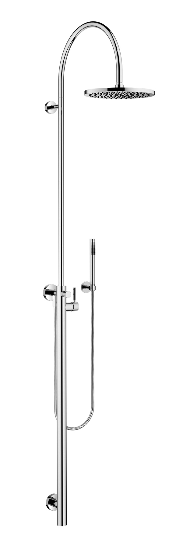 Dornbracht 26023661-000010 Meta Shower Riser with Shower Single-Lever Mixer for Wall-Mounted Installation with Rainhead And Hand