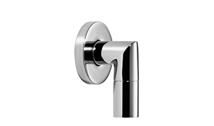 Dornbracht 28450625-00 Round Universal Wall Elbow - Polished Chrome