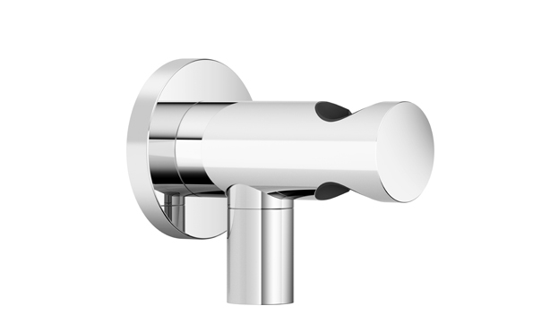 Dornbracht 28490660-06 Round Universal Wall Elbow with Integrated Wall Bracket - Platinum Matte