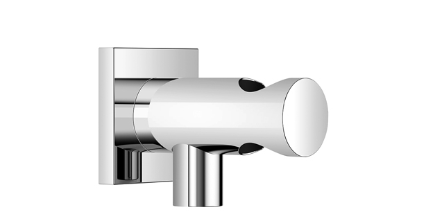Dornbracht 28490970-06 Rectangular Universal Wall Elbow with Integrated Wall Bracket - Platinum Matte