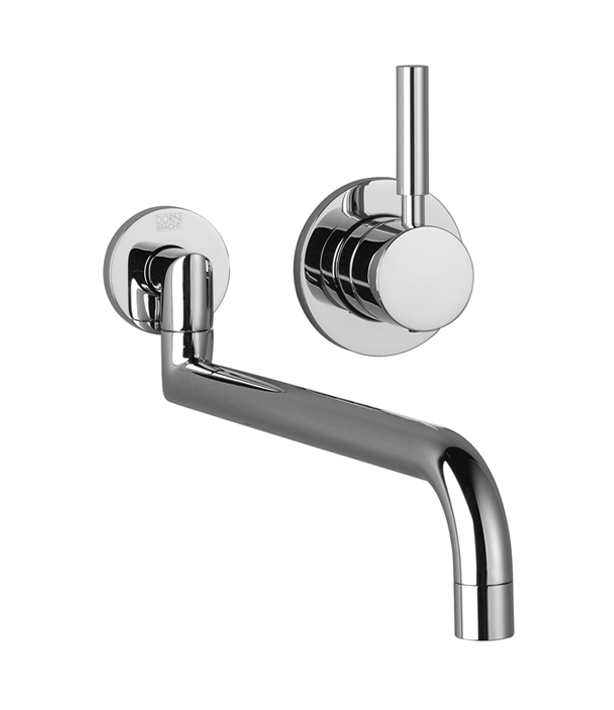Dornbracht 36838625-000010 Meta Single Lever Mixer with Individual Flanges - Polished Chrome