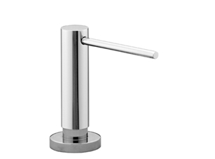 Dornbracht 82434970-00 Round Universal Soap Dispenser with Flange - Polished Chrome