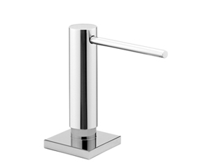 Dornbracht 82439970-00 Rectangular Universal Soap Dispenser with Flange - Polished Chrome