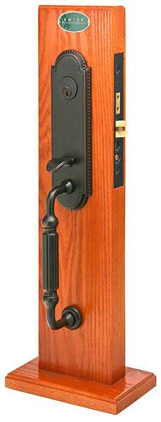 Emtek 3304 Brass Mortise Hamilton Entry Set