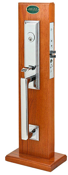 Emtek 3306 Brass Mortise Manhattan Entry Set