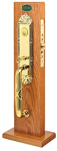 Emtek 3307 Brass Mortise Regency Entry Set