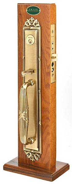 Emtek 3309 Brass Mortise Versailles Entry Set