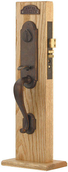 Emtek 3321 Sandcast Bronze Mortise Cheyenne Entry Set