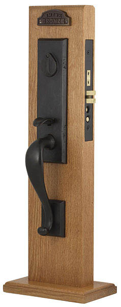 Emtek 3325 Sandcast Bronze Mortise Rectangular Monolithic Entry Set