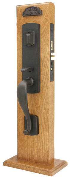 Emtek 3327 Sandcast Bronze Mortise Morgan Entry Set